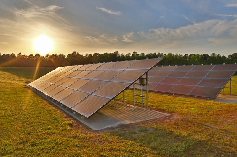 Solar Panels at Butler Farms Microgrid