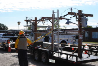 High Voltage outdoor demonstration